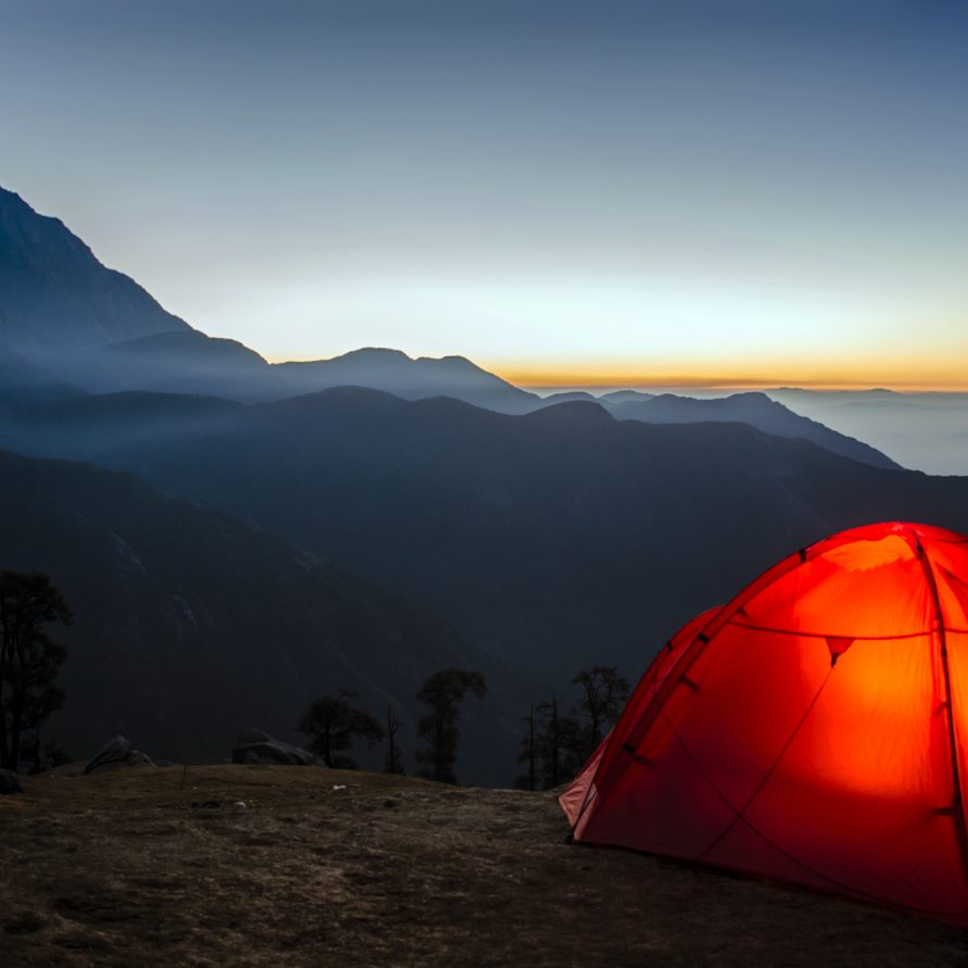 Camping amidst mountains in NimaiValley