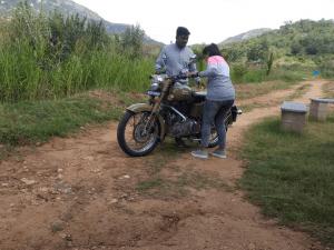 training the bikers
