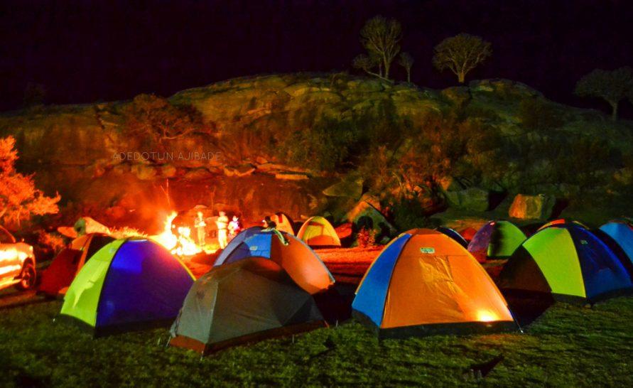 Night Camping in a farm