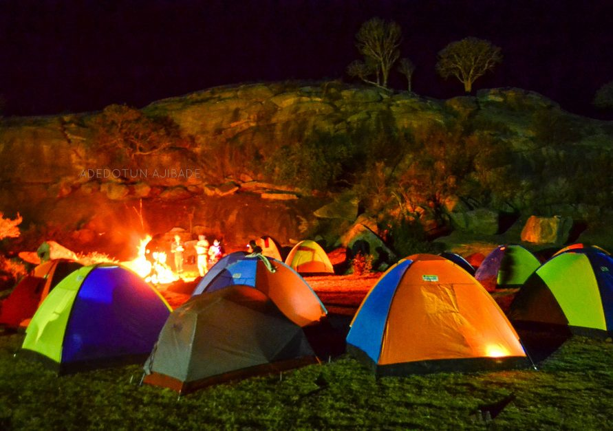 Night Camping in a farm